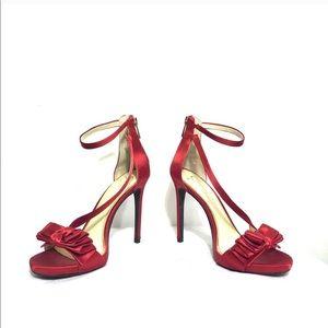 Jessica Simpson Remyia Red Satin Bow Stiletto Heel